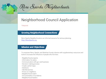 Neighborhood Volunteer Application