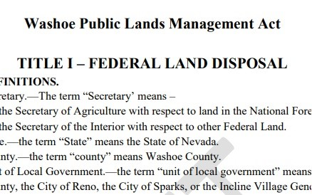 Federal Land Disposal